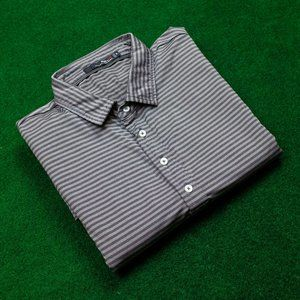 RLX Ralph Lauren Grey Striped Polo